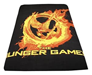 "The Hunger Games Movie - Polar Fleece 50""x60"" Throw, Mockingjay Fire"