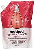 Gel Hand Wash Refill, Pink Grapefruit, 34 fl oz (1 l)