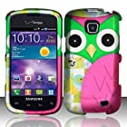 Pink Patched Owl Hard Plastic Matte Design Case for Samsung Illusion i110 / Galaxy Proclaim - In Twisted Tech Retail Packaging