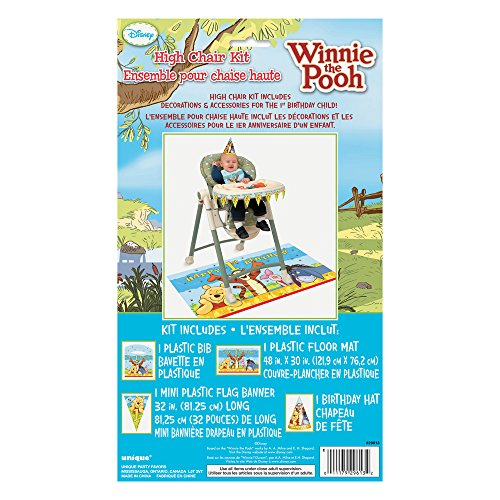 Winnie the Pooh First Birthday High Chair Decorating Kit - 1