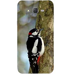 Casotec Woodpecker Design Hard Back Case Cover for Samsung Galaxy J2