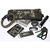 Ultimate Survivor Outdoors Multi Use trekking Survival Kit - Army Woodland Camouflage