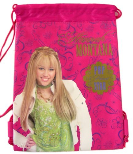 Disney's Hannah Montana Pink - Secret Pop Sta- rDrawstring Backpack/String Sack Bag