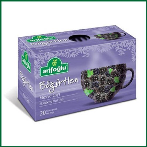 Arifoglu Organic Blackberry Tea, 20-Count Box Pack Of 6