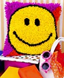 Caron Natura Latch Hook Rug Kit - Smiley Face