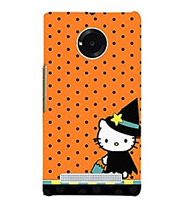 Orange Dots Girly 3D Hard Polycarbonate Designer Back Case Cover for YU Yunique