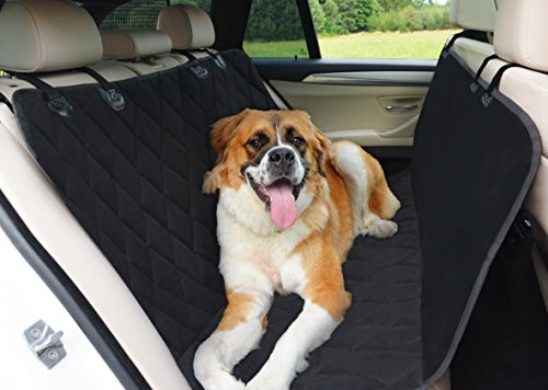 Dog Hammock Pet Car Seat Cover with Seat Anchors for Cars, SUVs & Trucks - Waterproof Highly Protective & Nonslip Dog Seat Cover - The Best Protector for Your Back Seat (Dog Car Seat Covers Bmw compare prices)
