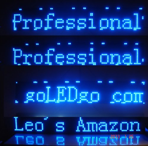 "Led Banner, Blue Color Moving Message Sign, Scrolling Message, Led Display, Messager Billboard,Size:38""X6.5""X1.2"", Ultra Thin And Light, Live Programmable Messager Board, Usb Disk Control Banner02B Tool Sign"
