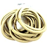 Pack Of 10 Thick Endless Blonde Hair Elastics Bobbles No Metal PonyTail
