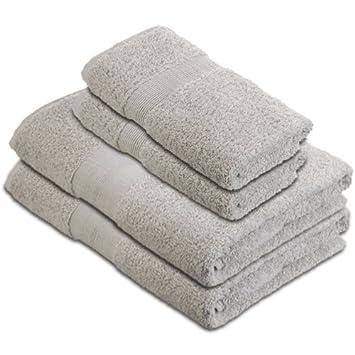 pinzon by 550g m2 lot de serviettes 100 coton gris. Black Bedroom Furniture Sets. Home Design Ideas