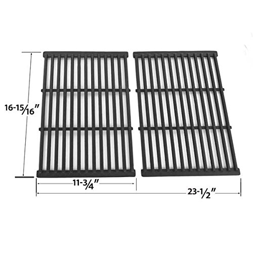 Cast Iron Cooking Grid For BBQ Pro, Brinkmann, Grill Chef SS525-B, Members Mark REGAL04CLP, Nexgrill and Grand Hall REGAL 04 CLP Gas Grill Models, Set of 2 (Grand Hall Bbq compare prices)