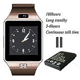 A8 POWER DZ09 Gear S Bluetooth Smart Watch WristWatch Sim Insert Anti-lost Call Reminder Phone Mate (Bronze) (Color: Bronze, Tamaño: Small)
