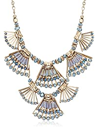 Accessorize Choker Necklace For Women (Blue/Gold) (MN-18255740001)