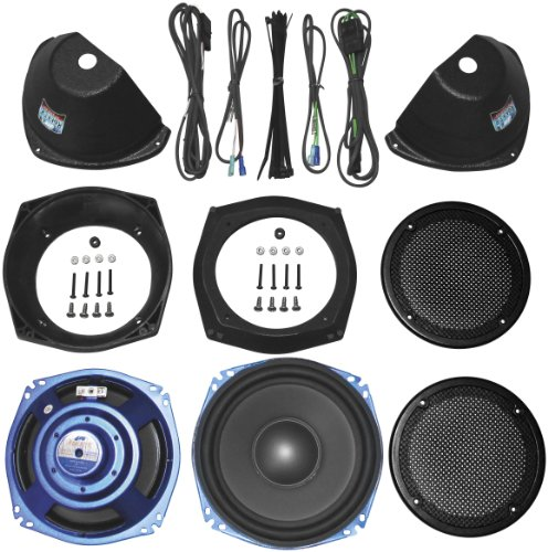 J&M Rokker Xt Dual 7.25In. Sub-Woofer Speaker Kit For Stock H-D Saddlebags Hswr-722-Xtc