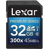 Lexar Premium Series 32 Go Carte mémoire SDHC Classe 10 UHS-I 300x LSD32GBBEU300
