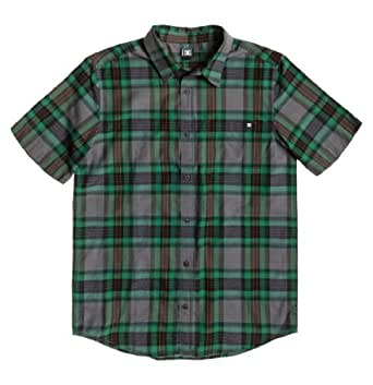 DC Men's Arcade Short Sleeve Shirt, Predator Plaid, XX-Large