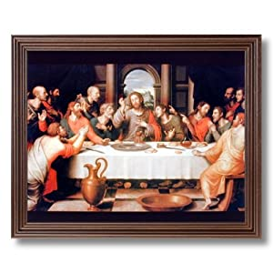 The Last Supper Jesus Christ Religious Picture Framed Art Print