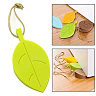 Topoint® Silicone Door Stopper Wedge Finger Protector, 4 Pack Premium Cute Colorful Cartoon Leaf…