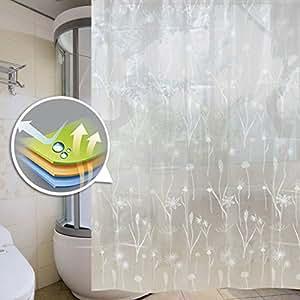 Auralum belle salle de bain rideau de douche tanche et - Rideau de douche anti moisissure ...