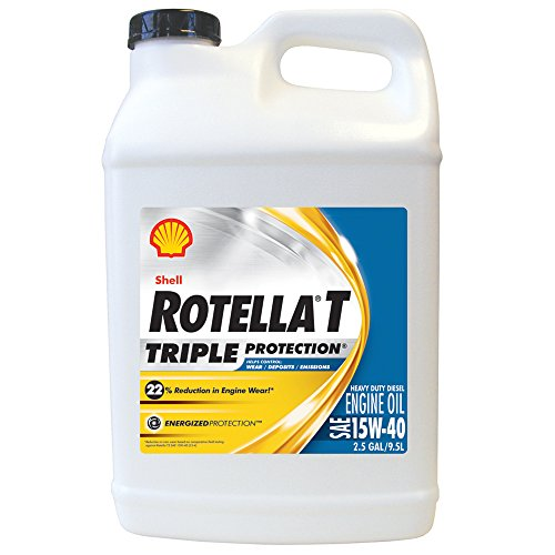 Shell Rotella 550019919 T Triple Protection 15W-40 Heavy Duty Diesel Engine Oil (CJ-4) - 2.5 Gal. (Motor Oil Shell 15w40 compare prices)