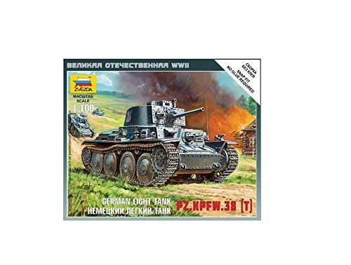 Zvezda Models 1/100 German 38t Tank Snap Kit
