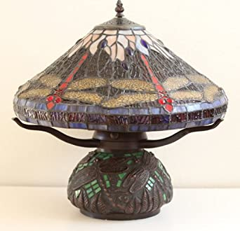 tiffany style dragonfly mosaic table lamp. Black Bedroom Furniture Sets. Home Design Ideas