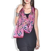 Navratri Special Sale - Beautiful Butterfly pure silk stole, scarf, dupatta f...
