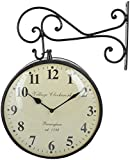 Artistic Handicrafts Iron Wall Clock (16 cm x 16 cm x 6 cm, Black)