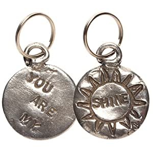 Tamara Hensick Pewter Coin Key Chain - You Are My Sunshine