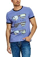 Galvanni Camiseta Manga Corta (Azul)