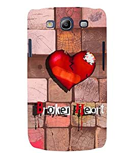 PRINTSWAG BROKEN HEART Designer Back Cover Case for SAMSUNG GALAXAY S3