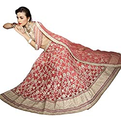 Aasvaa Beautiful Women's Lehenga cholis ( Gajri - Peach )