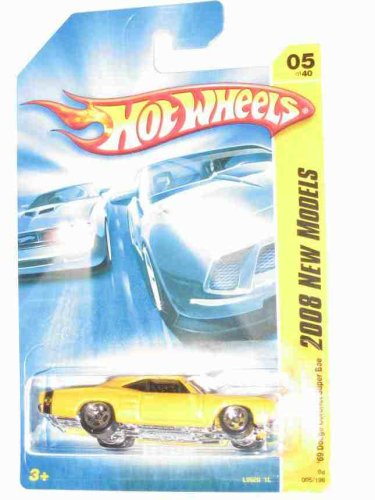 2008 New Models #5 '69 Dodge Coronet Super Bee Dark Yellow Collectibles Collector Car #2008-5 2008 Hot Wheels