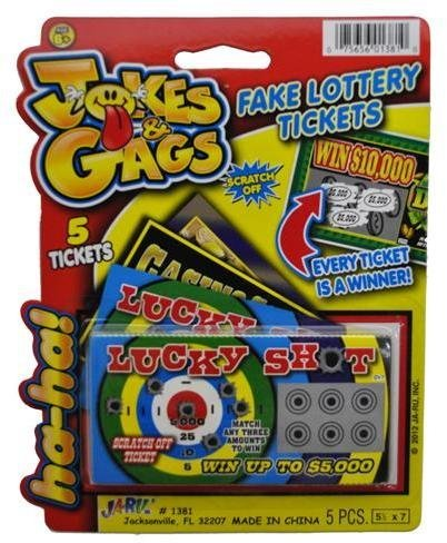 Jokes & Gags Fake Lottery Tickets (Pack of 3) (Sweet Ticket compare prices)
