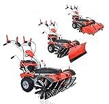 PowerPac-Typ-MK100-Kehrmaschine-Motorbesen-Schneeschieber-Schneefrse-Elektro-Start-65PS