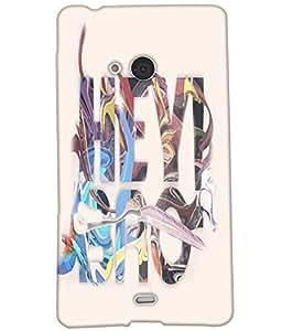 Fuson Multicolor Text Back Case Cover for NOKIA MICROSOFT LUMIA N540 - D3730