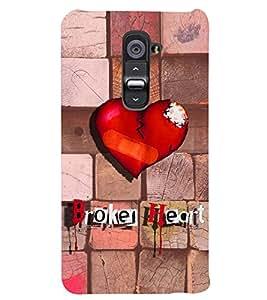 PRINTSWAG BROKEN HEART Designer Back Cover Case for LG G2