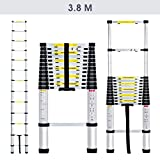 Finether 3.8M Aluminum Telescopic/Telescoping Loft Extension Ladder