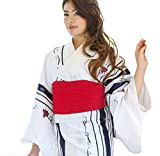 Women Traditional Japanese Kimono Robe Yukata Obi Belt Set Japan Anime Mt.Fuji