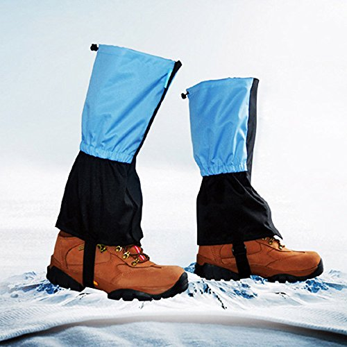 Anself Outdoor Waterproof Windproof Gaiters Leg Protection Guard Skiing Hiking Climbing