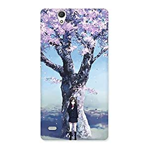 Special Cherry Blossom Girl Back Case Cover for Sony Xperia C4