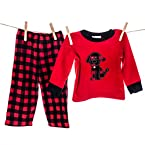 Red and Black Boys PJ Set
