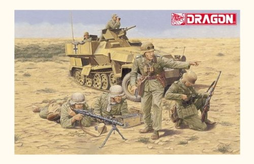 Dragon 1/35 German Afrika Korps Infantry, El Alamein 1942 - 4 Figures Set