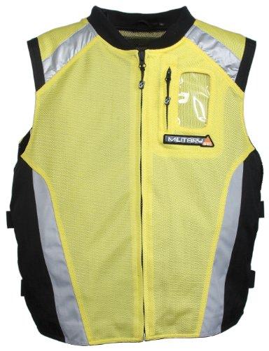 Joe Rocket Mens Perforated Military Textile Spec Vest Yellow/Black/Silver Large/Extra Large L/XL