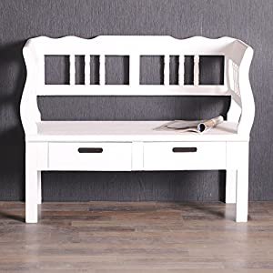 exklusive truhe owen bank landhaus truhenbank 104cm shabby chic antik weiss k che. Black Bedroom Furniture Sets. Home Design Ideas