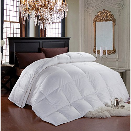 Cheer Collection Luxury All Season White Goose Down Alternative Comforter (King) (Down Alternative Baby Comforter compare prices)