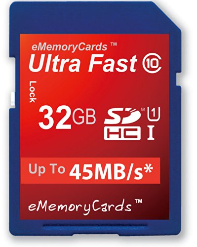Ememorycards 32Gb/32Gig Class 10 Sd Ultra Fast 45Mb/S Sd Sdhc Memory Card For Panasonic Dmc-Fx60Eb-A Camera