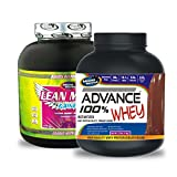 Lean Mass Gainer 3KG Chocolate& ADVANCE 100% WHEY 25gm Protein Per 33gm 1kg Chocolate (Combo Offer)