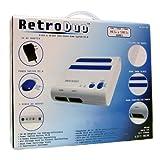 Retro Duo Twin Video Game System NES & SNES - Blue and White ~ Retro Duo