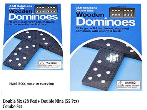 Double Six Dominoes,Double Nine Dominoes, Combo Set.double 6 dominoes and double 9 dominoes by C&H